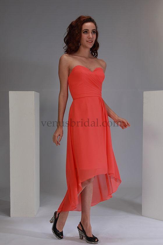 Bella Bridesmaids by Venus Bridals - BM1722NL chiffon: watermelon ...