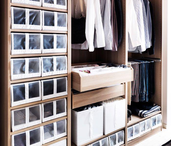 Almacenaje peque o cajas y cestos y m s ikea depa - Ikea cajas almacenaje ropa ...