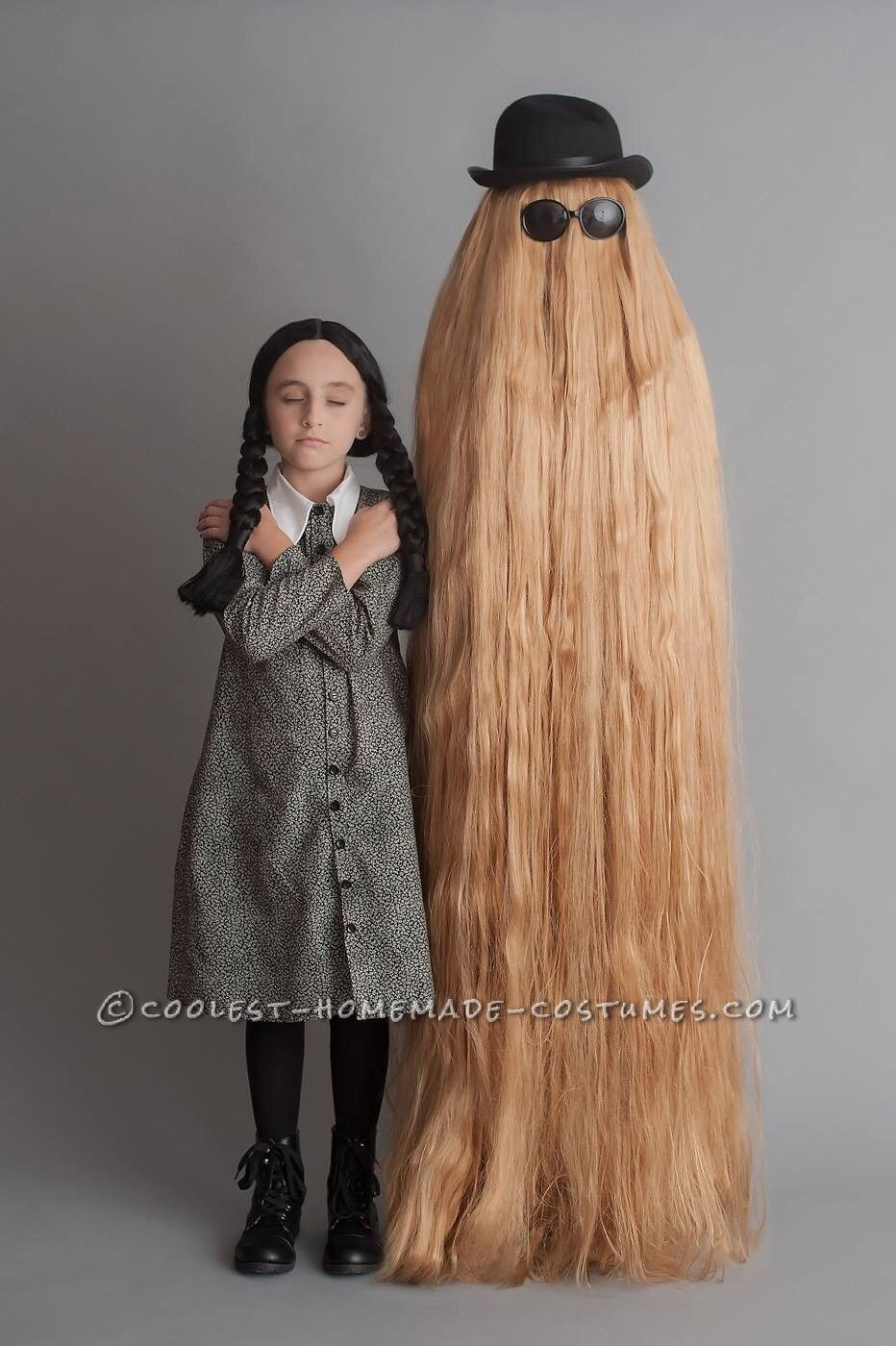 Mother/Daughter Have Fun as Wednesday Addams and Cousin Itt ...
