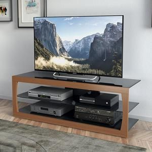 Santa Lana 65 Tv Stand In Faux Teak Nebraska Furniture Mart Tv Stand Corliving Tv Stands And Entertainment Centers