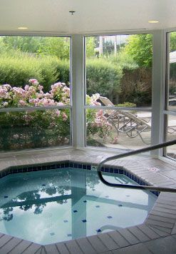 Indoor Jacuzzi With View To Garden Indoor Jacuzzi Outdoor Rooms Jacuzzi