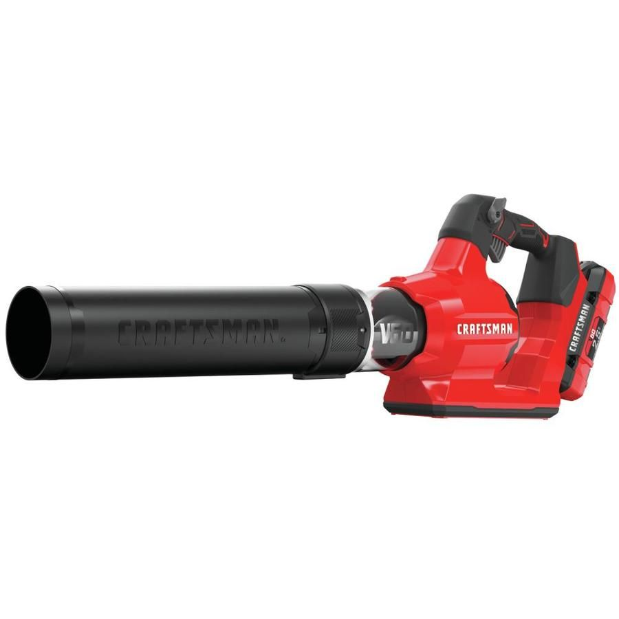 Craftsman V60 60 Volt Max Lithium Ion Brushless Cordless Electric Leaf Blower 1 Battery Included In 2020 Electric Leaf Blowers Cordless Leaf Blowers Leaf Blower