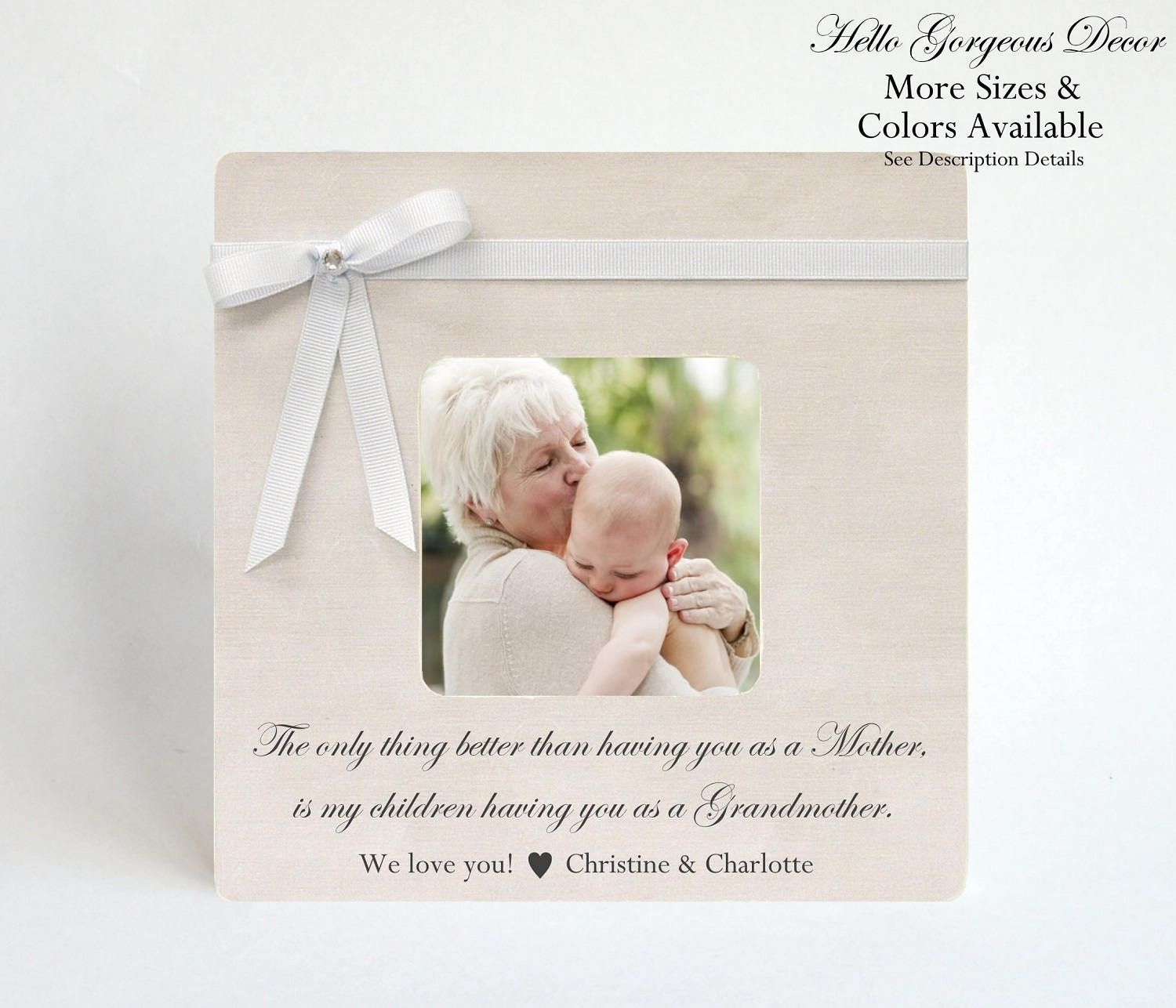 Grandmother New Grandma Gift Personalized Picture Frame New Nana ...