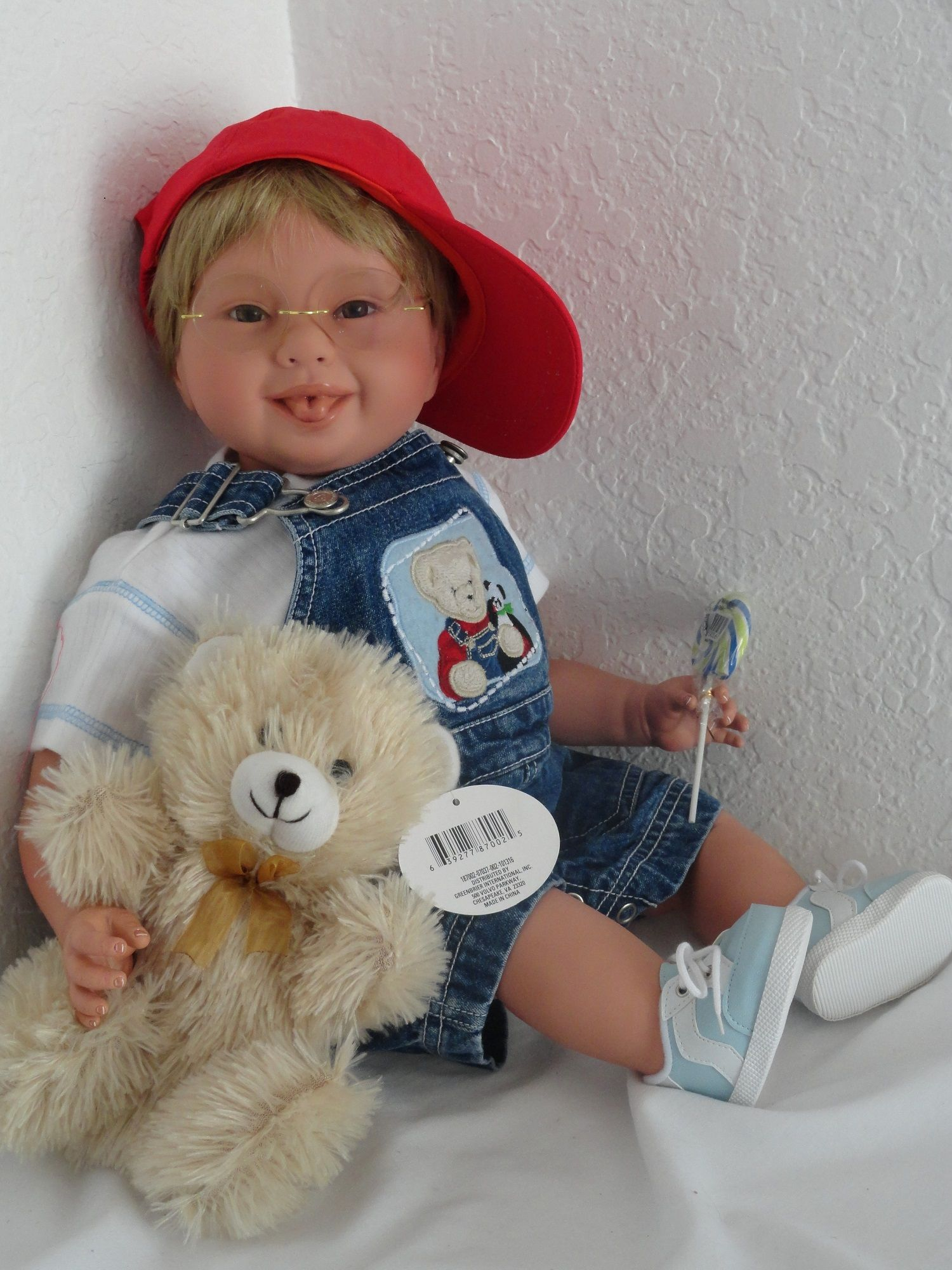 """Adorable reborn 22"""" toddler boy doll""""Timmy"""" and teddy is one of"""