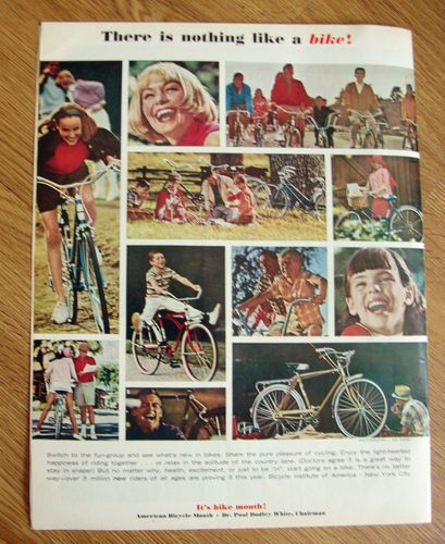 1965 American Bicycle Month Ad There is nothing like a Bike! | eBay,Photo By Sid Avery