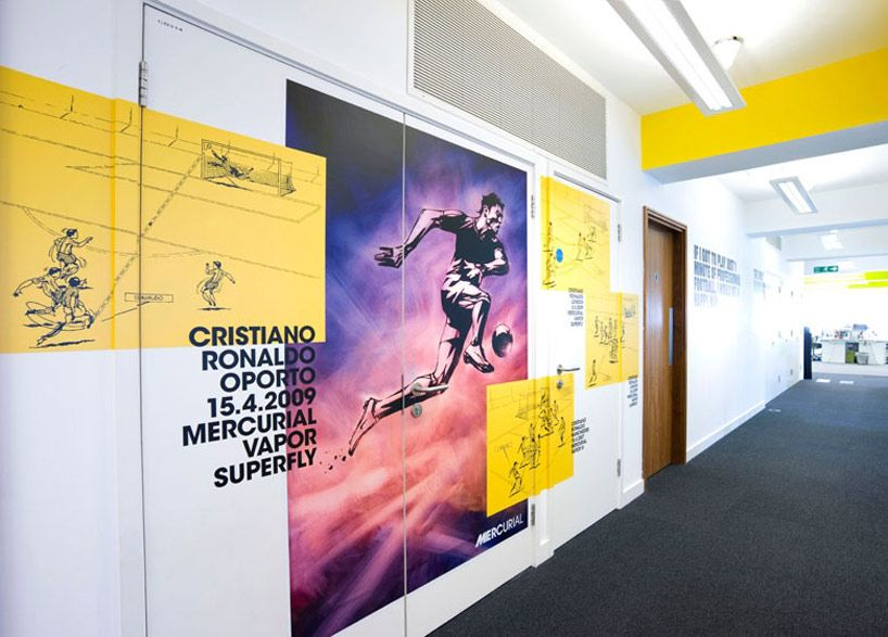 NIKE UK headquarters re-design by rosie lee | Environmental graphics ...