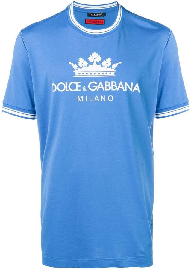 12dc7237f070 Dolce   Gabbana Logo Print T-shirt