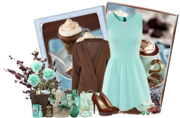 """""""Chocolate com menta...uma delicia!"""" by sil-engler ❤ liked on Polyvore"""