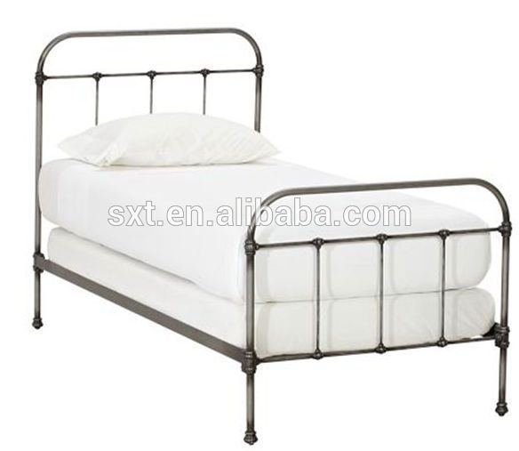 Source Antique Wrought Iron Metal Bed Single Bed On M Alibaba Com