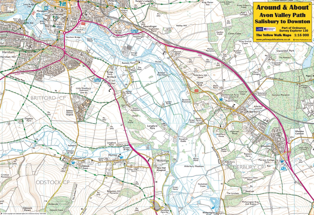 Avon Valley Path, Salisbury to Downton - front of the map