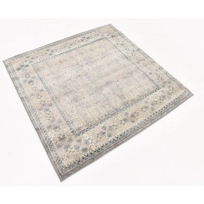 Lark Manor Claire Gray Area Rug Rug Size: