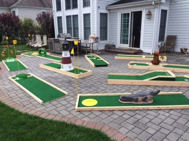 Portable Mini Golf Course Rental Long Island Thebigbouncetheory Com