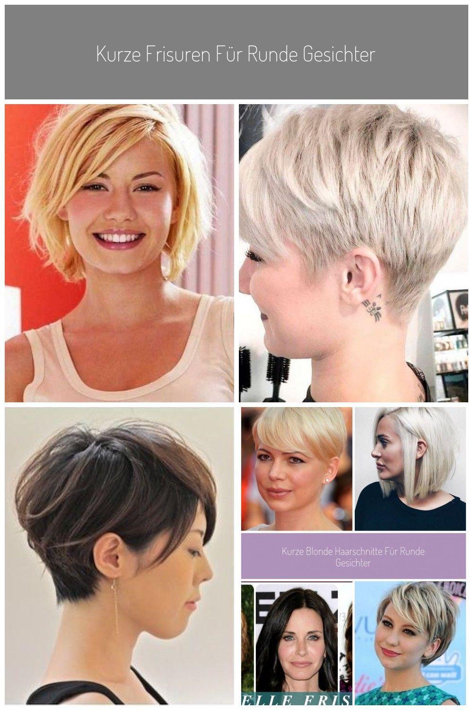 Kurze Frisuren für runde Gesichter , #frisuren #gesichter #kurze