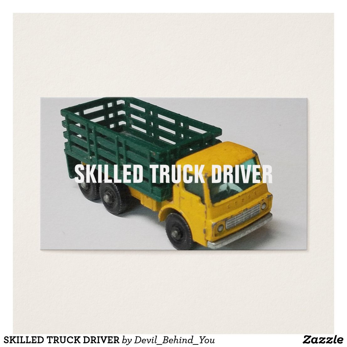 Skilled truck driver business card | Business cards and Business