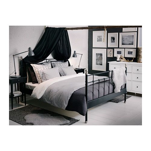 Metallbett weiß 140x200 ikea  NYPONROS Duvet cover and pillowcase(s), gray | Bed frames, Duvet ...