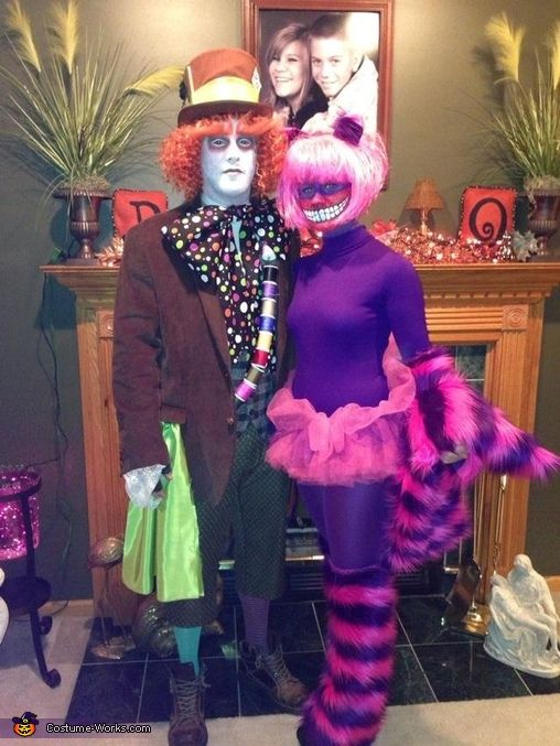 mad hatter and cheshire cat halloween costume contest at costume deguisement duo. Black Bedroom Furniture Sets. Home Design Ideas