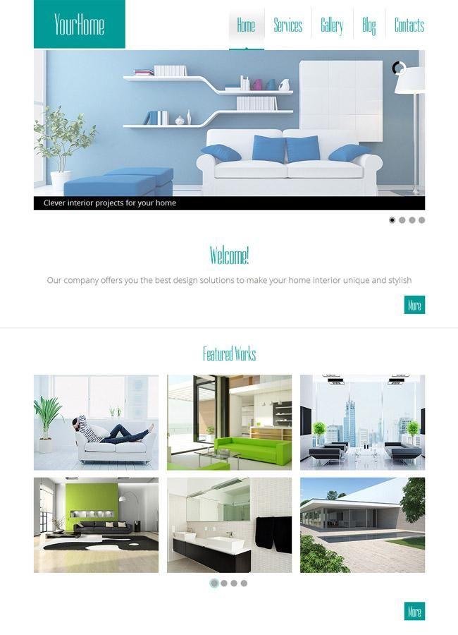 Explore Free Html Templates And More Interior Design HTML5