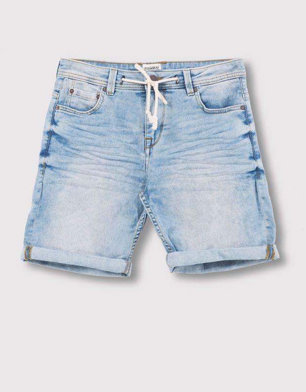 Pullu0026Bear   Hombre   Hello Summer!   Bermuda Cordón Light Random   Azul    05692506