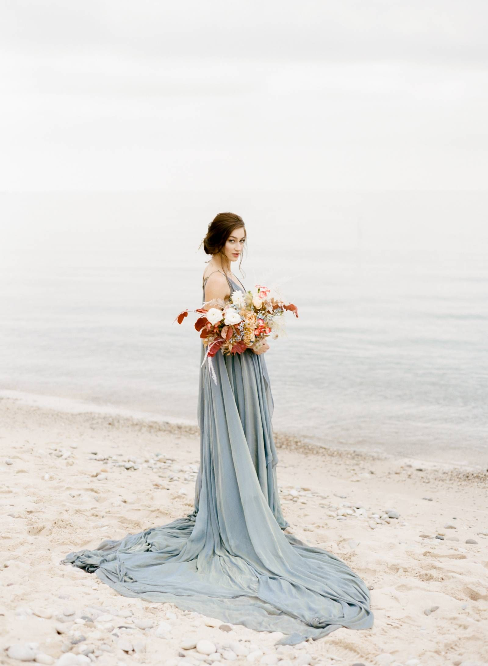 Non Traditional And Contemporary Fall Wedding Inspiration Via