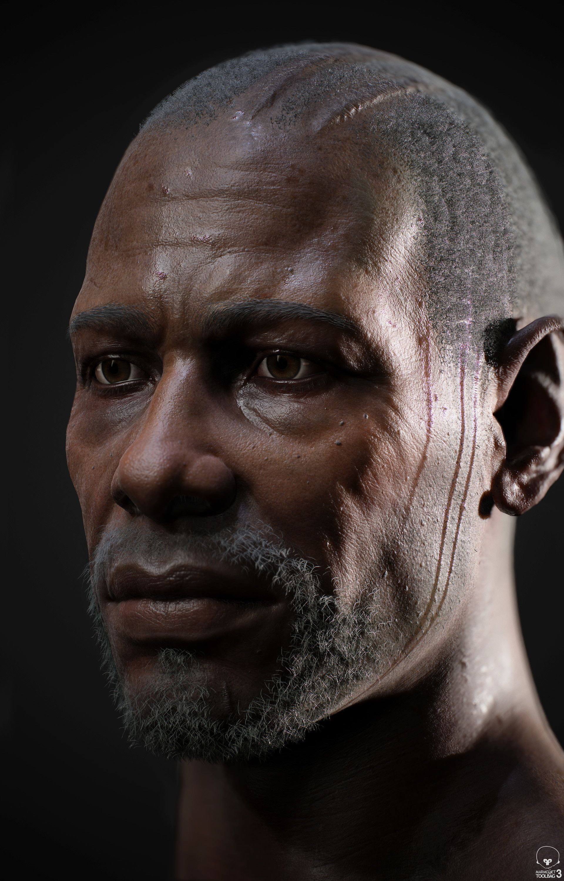 Building A Realistic Character For Games Face Graphic Novel Art