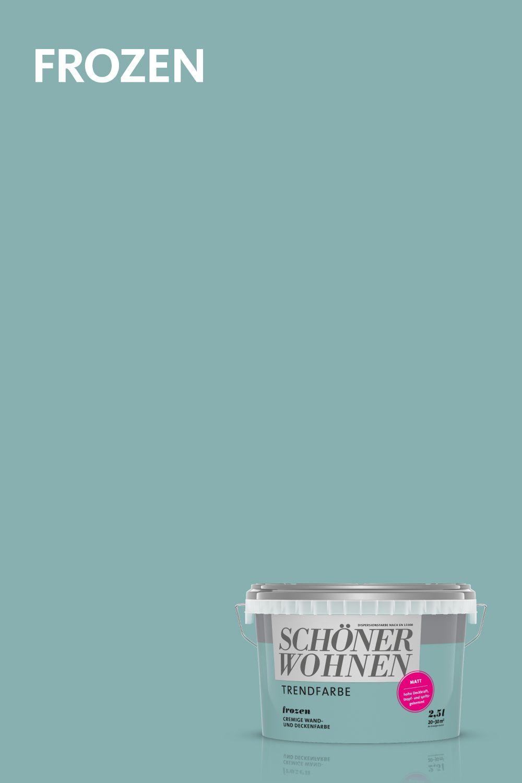Trendfarbe Frozen Schoner Wohnen Farbe Schoner Wohnen Trendfarbe Schoner Wohnen