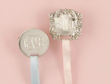 Southern secrets carolina style baby boy blue children sterling silver personalized pacifier clip sterling silver monogrammed pacifier clip monogrammed baby gifts personalized baby keepsakes negle Gallery
