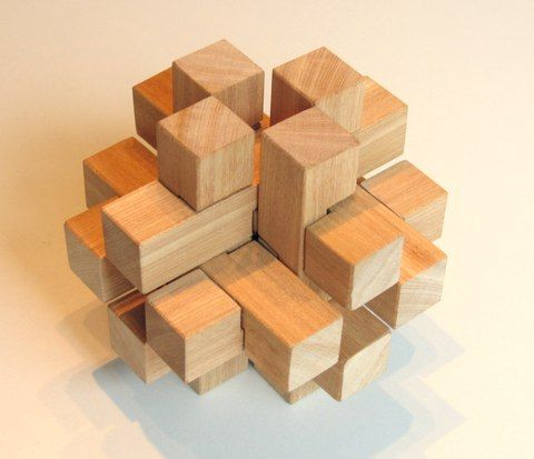 12 Piece Burr Puzzles Wood Working Diy Wooden Puzzles