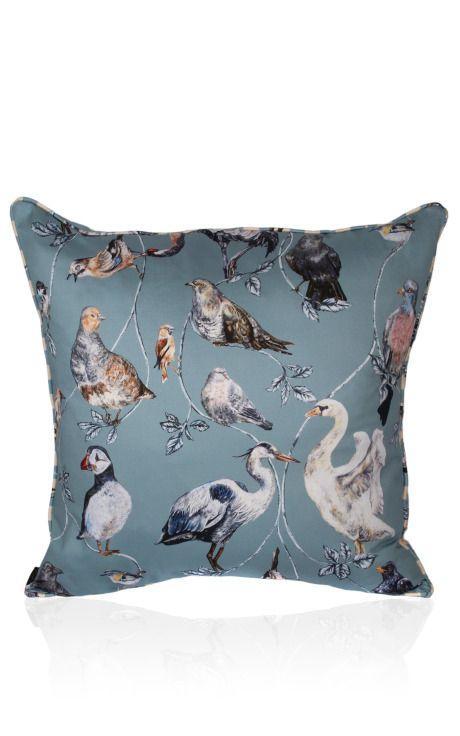 Flights Of Fancy Combo Stripe Cushion by House of Hackney