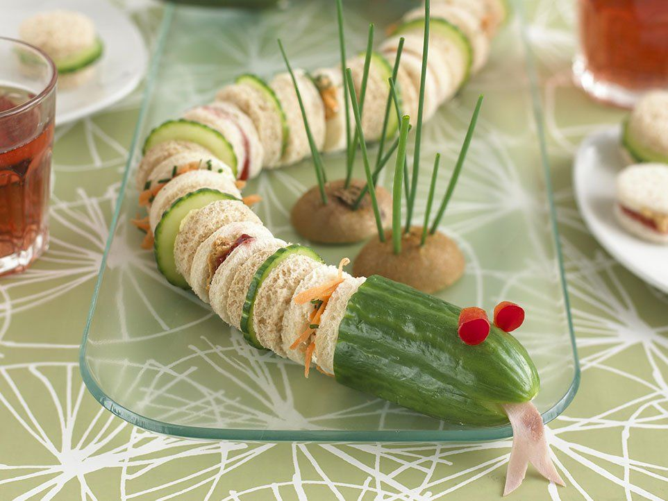 Snake Sandwich Childrens parties, Halloween foods and Kid foods - halloween catering ideas