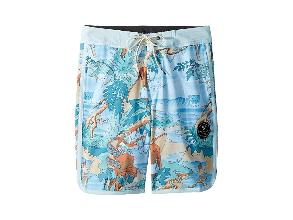 VISSLA Kids Surfari Washed 4Way Stretch Boardshorts 17 Big Kids Teal Boys Swimwear A super soft pair of performance boardshorts that are engineered for comfort style and...