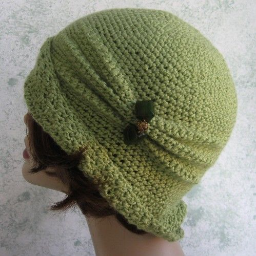 Womens Crochet Hat Pattern Close Fitted Hat With Side Pleats Pdf