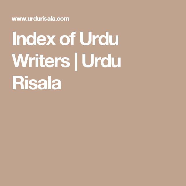 Index of Urdu Writers | Urdu Risala | Litreature | Urdu