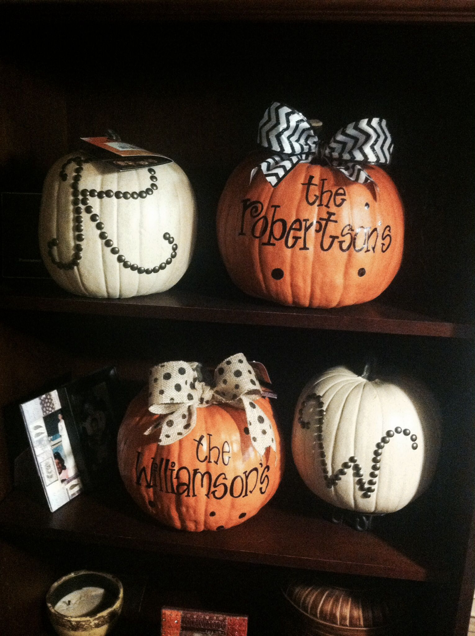 Adorable Personalized Halloween Pumpkins Paint Last Name On