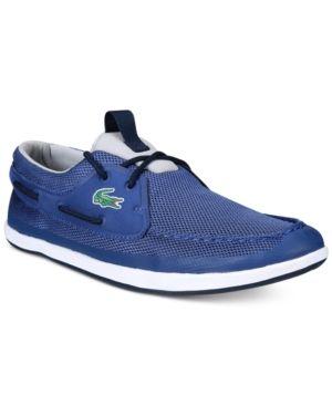 c310e94fd Lacoste Men s Landsailing Boat Shoes - Blue 10.5