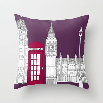 Night Sky London Red Telephone Box Throw Pillow by Bluebutton Studio $20 00 Fresh - Latest Big sofa Pillows Pictures