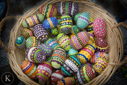 Painted rocks that look like easter eggs
