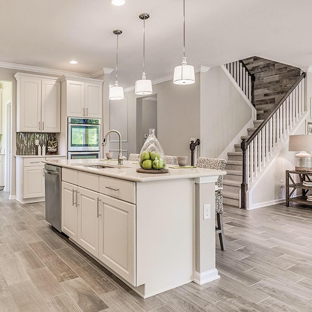D R Horton Homes On Instagram Bright White Cabinets Paired With A Rustic Wooden Accent Wall What S Your Favorite Home Kitchens Kitchen Design Horton Homes