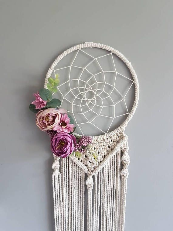 floral dreamcatcher macrame purple dream catcher dream catcher dreamcatcher macrame macrame. Black Bedroom Furniture Sets. Home Design Ideas