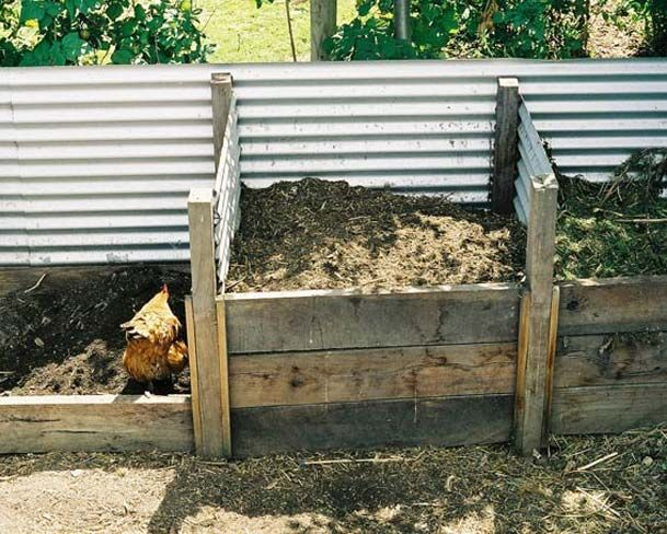 URBAN FOOD GARDEN - Corrugated iron compost bin | If politicians ...
