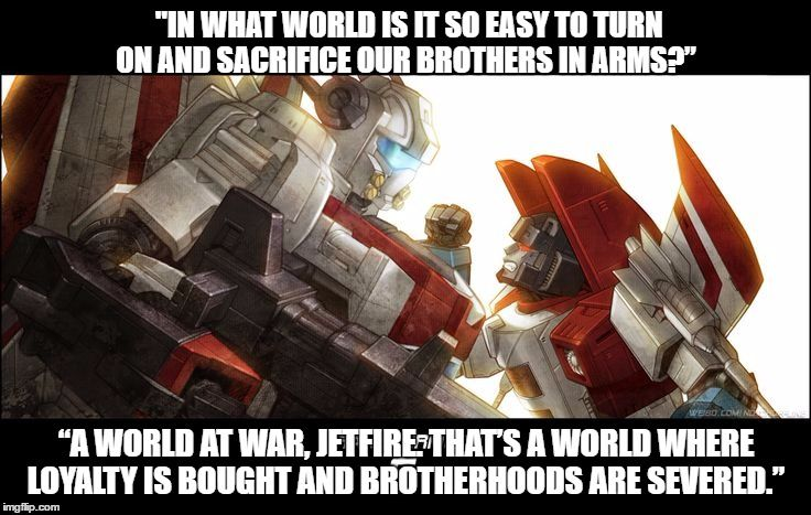 This is a quote from a Transformers fanfiction called