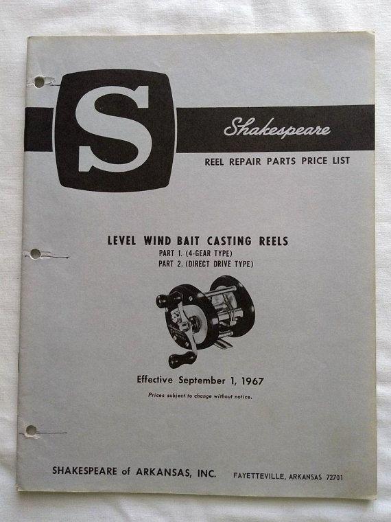 Vintage Shakespeare Casting Fishing Reel 1967 Repair Parts