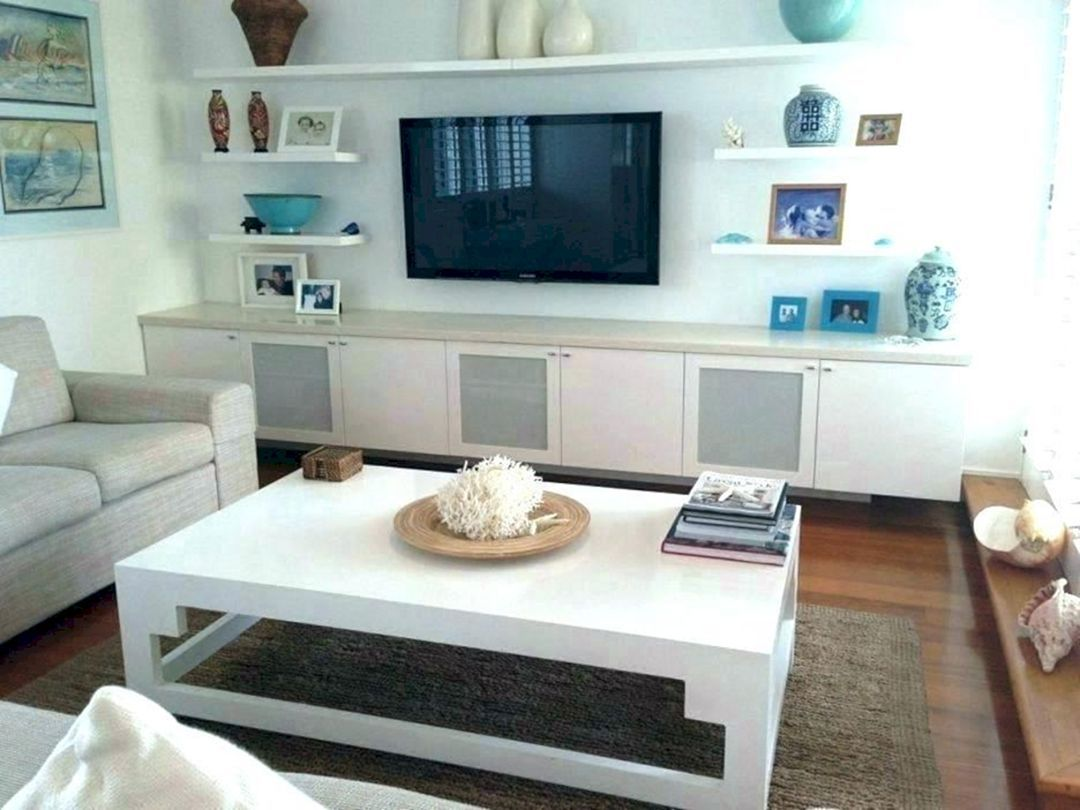23 Awesome Living Room Design Ideas With Floating Shelves Freshouz Com Floating Shelves Living Room Shelves Around Tv Living Room Shelves