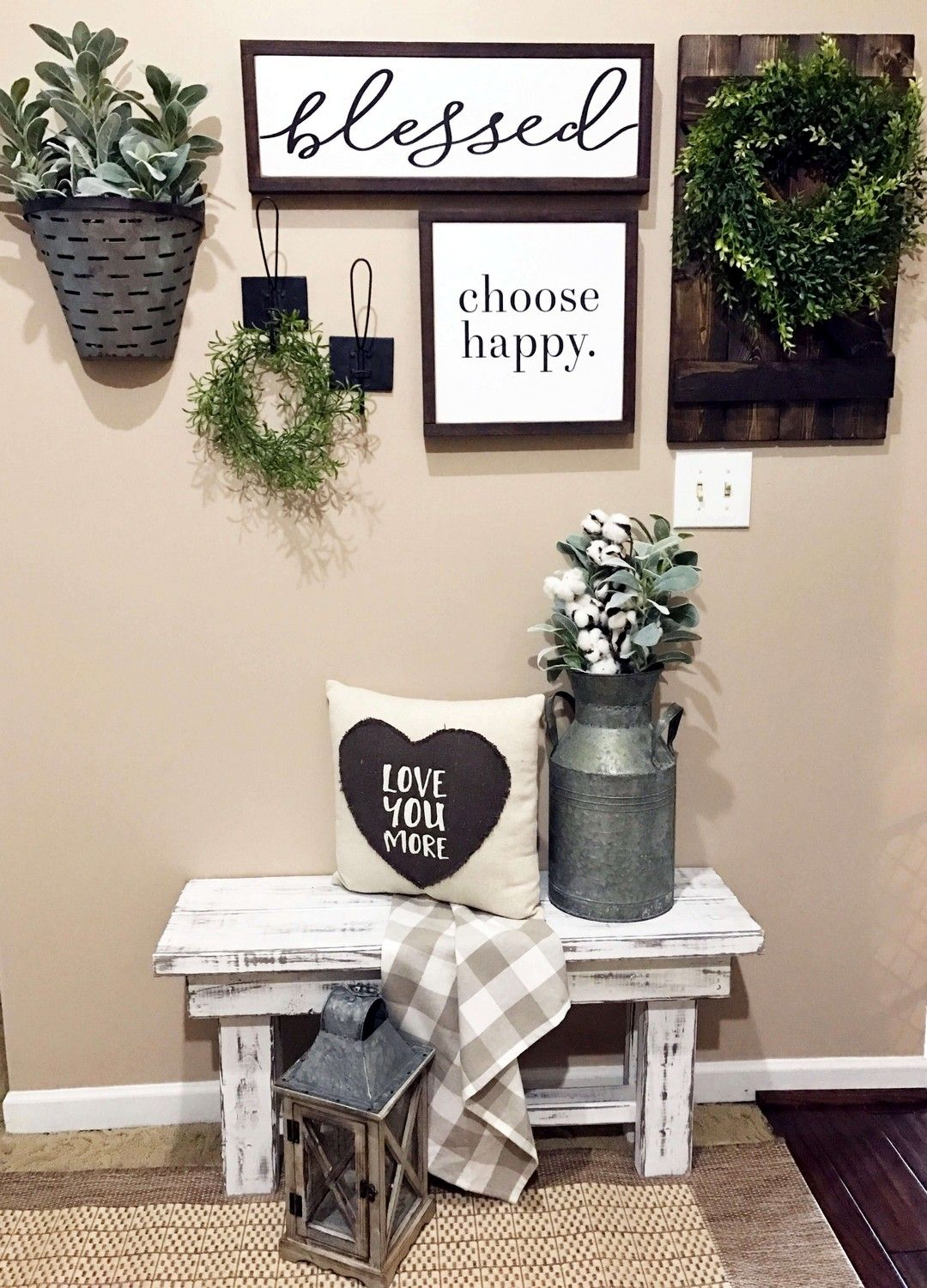 DIY Farmhouse Living Room Wall Decor