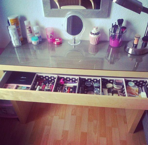 Rangement maquillage decoration Pinterest Makeup, Storage and