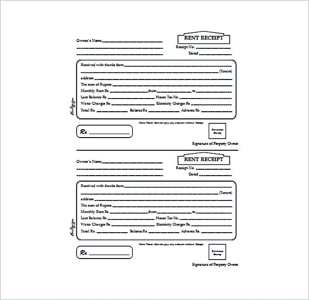 Free Rent Receipt Template and What Information to Include , The - free rental receipt template word