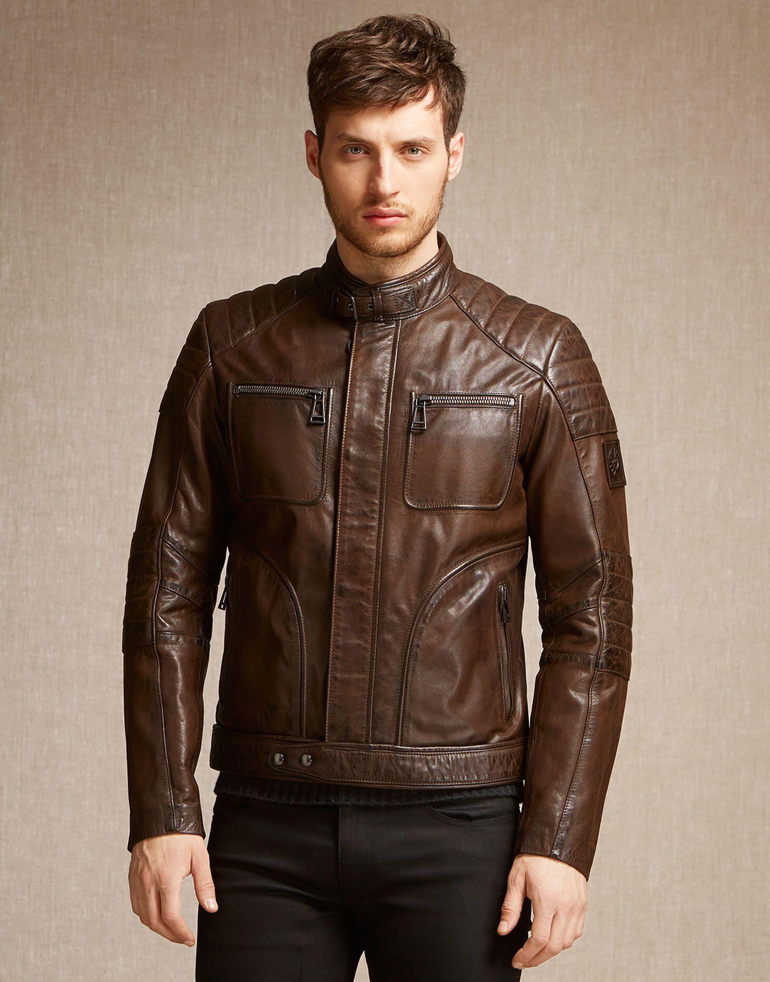 Belstaff Weybridge Leather Jacket Black/Brown