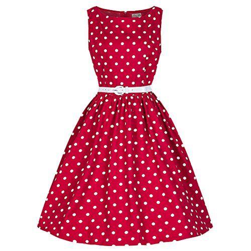 72c834e3098a7d Partiss Damen Frauen Elegant 60er Vintage Polka Dot Kleid...… | bag ...