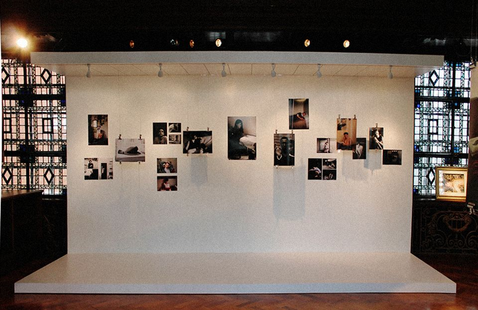 Hanging Pictures On Wire boys at home pop up exhibition that i curated for boysgirls at