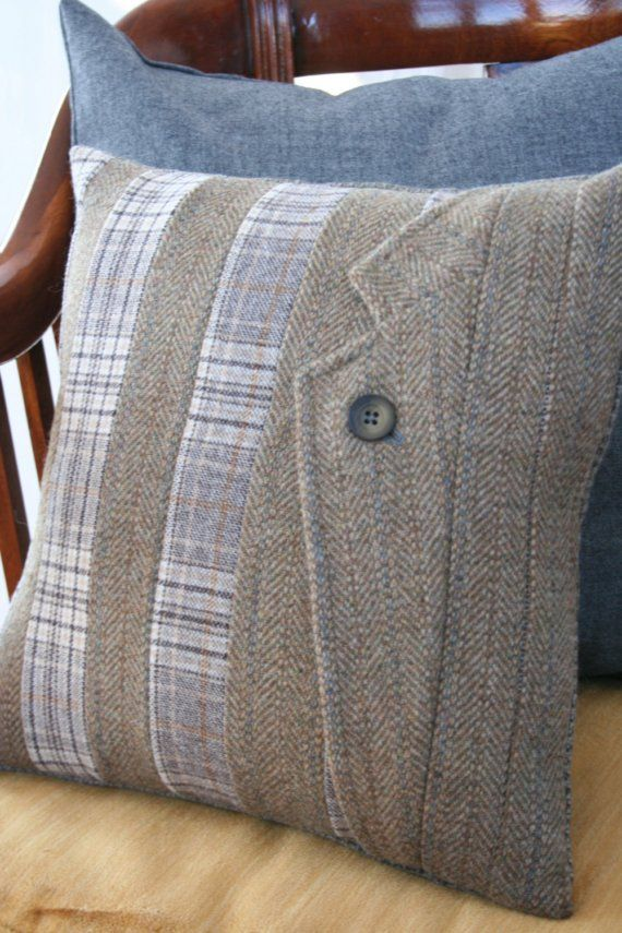 Cuscini Fodere.Pillow Cover Made From Scraps Jacket Lapel Vintage By Emmadear