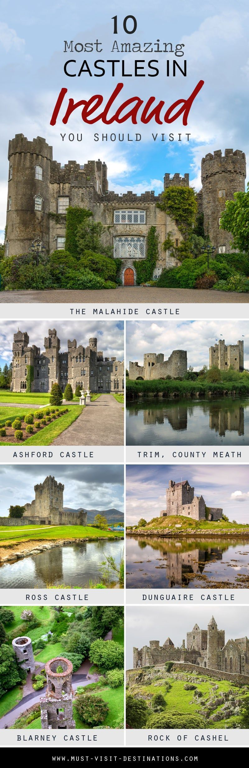 Ireland is home to some of the most beautiful medieval castles in the world. Discover 10 Most Amazing Castles in Ireland You Should Visit!